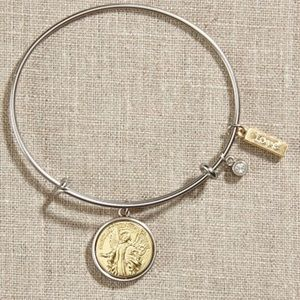 Jewelry - Guardian Angel Silver Bangle